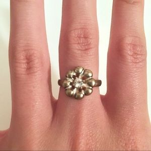 Jewelry - FREE w/purchase - Silver-Colored Flower Ring